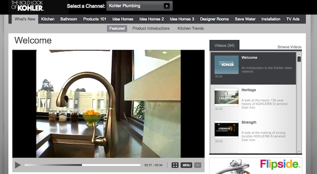Kohler uses Brightcove Video Cloud to highlight its product lines