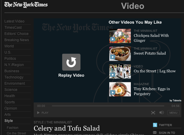 new york times related videos end slate