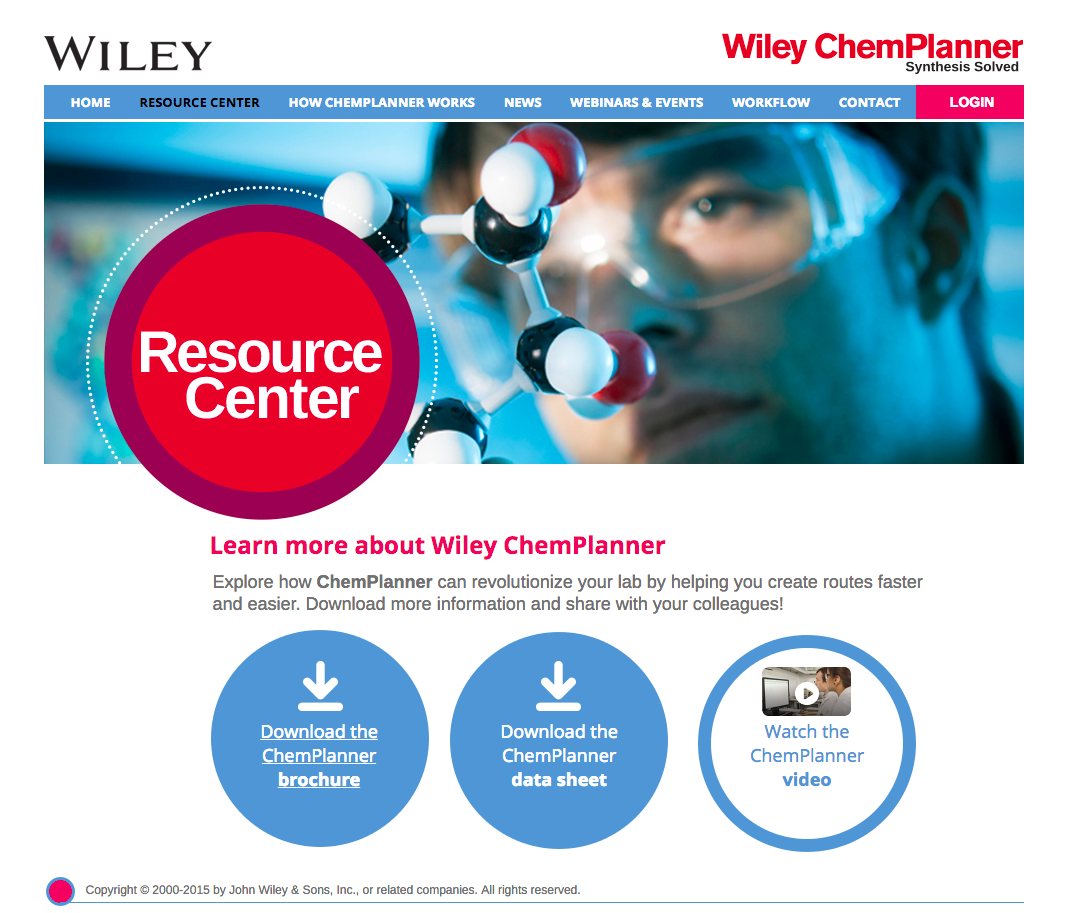 Wiley Resource Center Screenshot