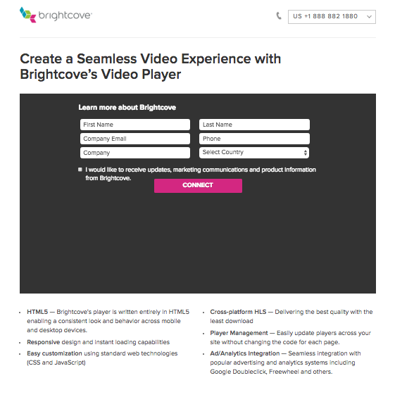 In-Video Lead Form