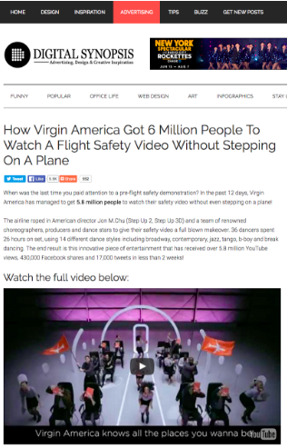 Digital Synopsis Article Virgin America