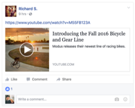 Facebook Embedded Video