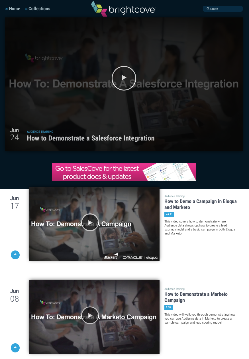 Video Hub for Internal Employee Product Education