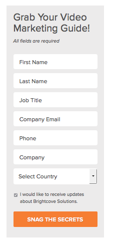 Landing Page form CTA Button B