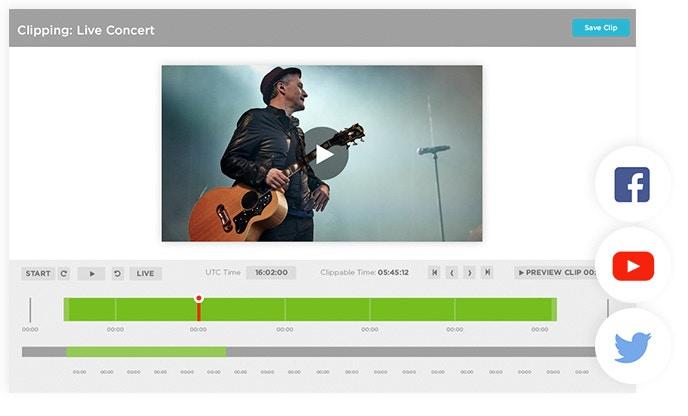 Brightcove Live Interface