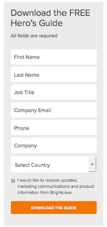 Landing Page Form CTA Button A
