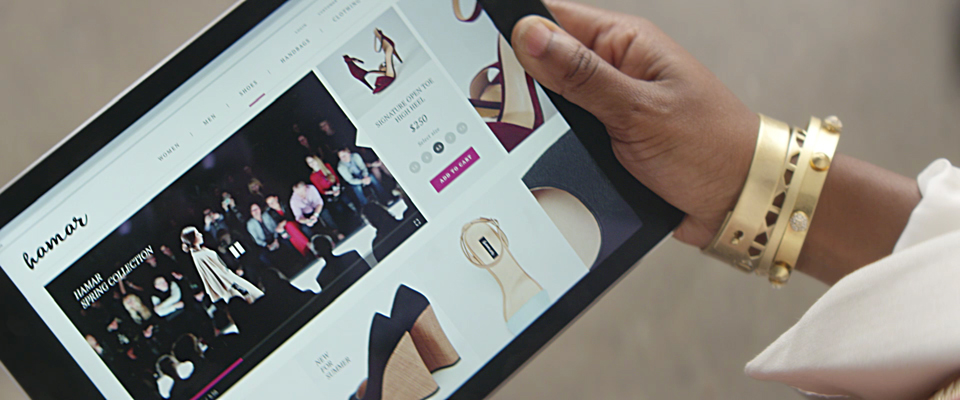 Fashion Company Mobile Homepage with Video