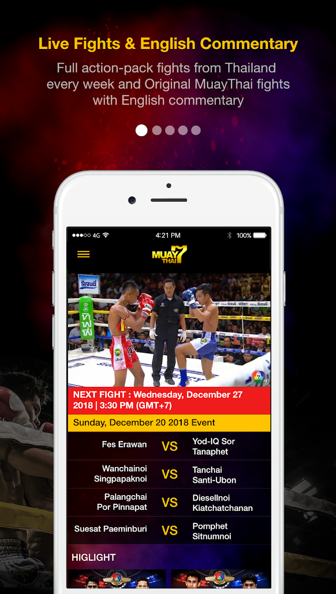 BBTV's Channel 7HD Thailand streams live Muay Thai matches