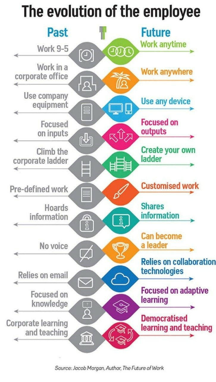 Evolution of the employee visual diagram