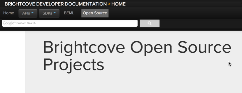 Brightcove Open Source Projects