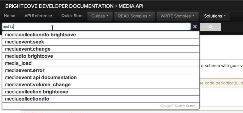 Developer Documentation Search