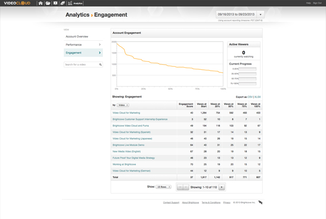 Brightcove Analytics Screenshot 3
