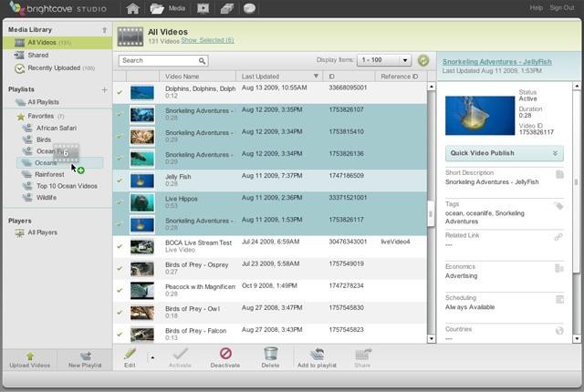 Content Management Screenshot 1