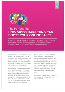 The perfect fit: How video marketing can boost your online sales
