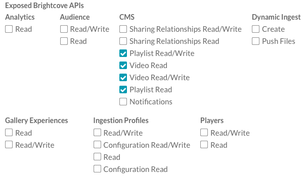 Managing API Authentication Credentials | Brightcove Learning