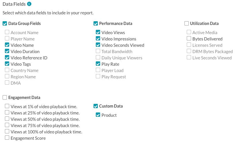 data fields