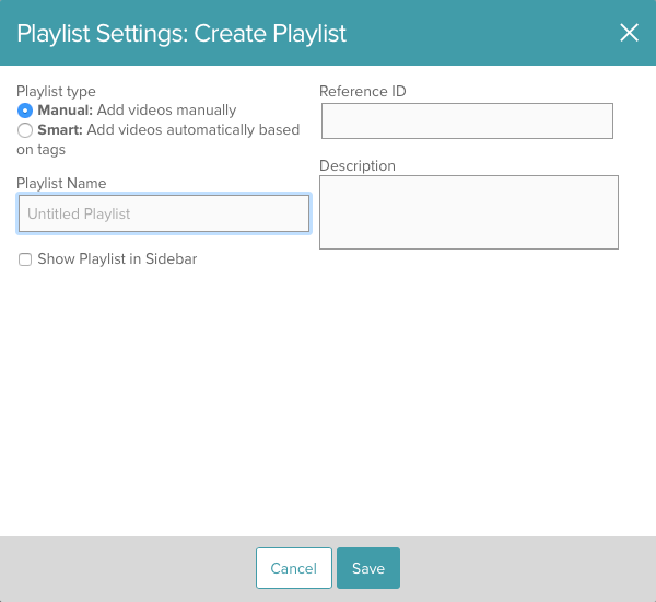 Creating and Managing Playlists   Brightcove Learning