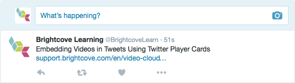Sharing Videos to Twitter Player Cards | Brightcove Learning