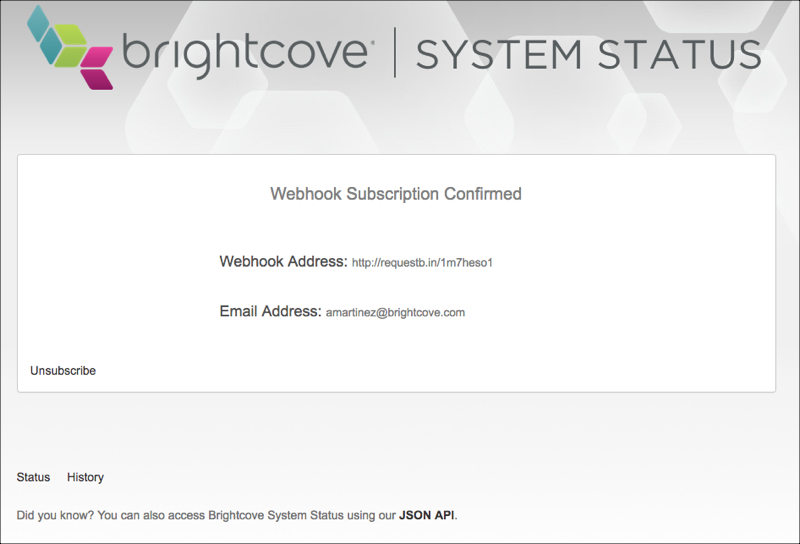 webhook status