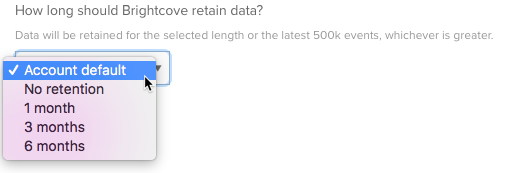 data retention options