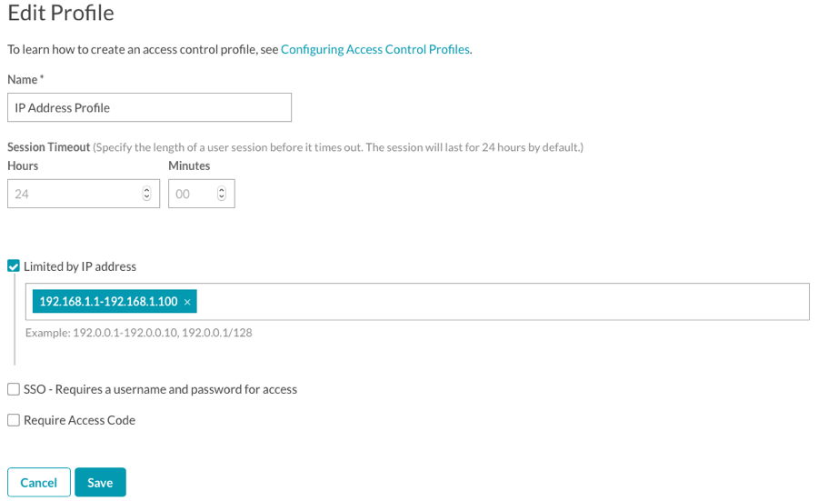 Configuring Access Control Profiles | Brightcove Learning