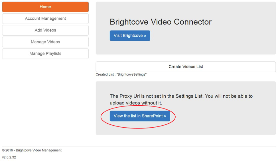 Getting Started with Brightcove Video Connect for SharePoint