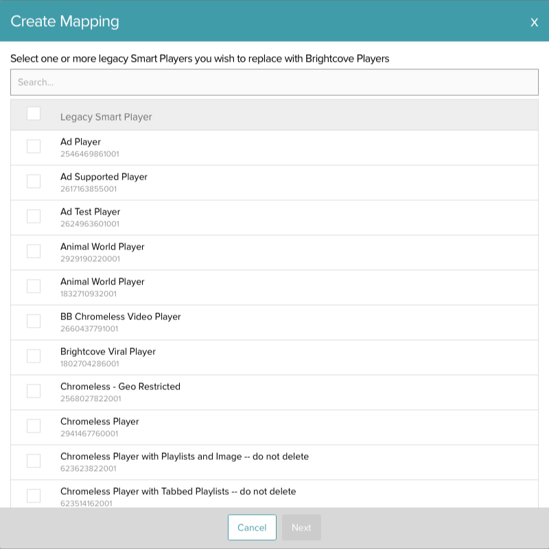 Create mapping