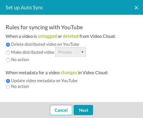 Using Auto Sync to Synchronize Videos to Social Media