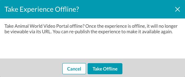 take project offline