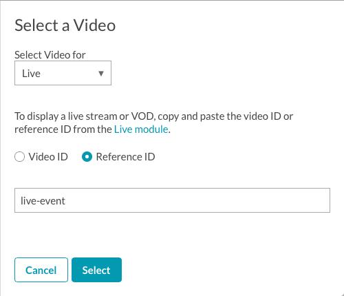 select live video
