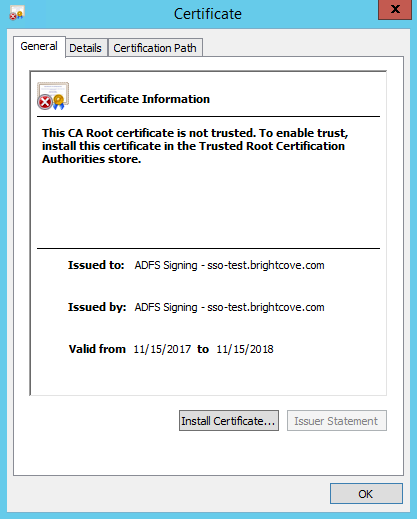 Configuring Single Sign-On with Active Directory Federation
