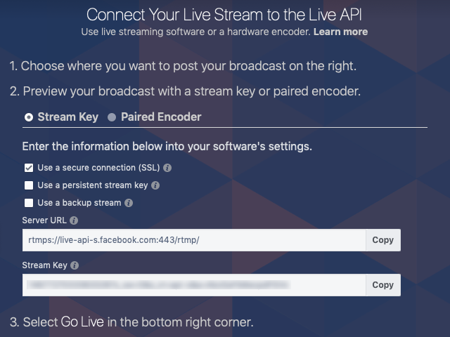 Using Live RTMP Outputs to Stream to Facebook and YouTube