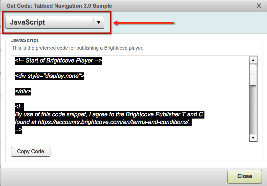 Publishing code for a Smart Player