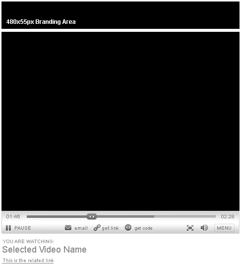 Video player with logo
